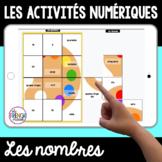 les nombres French digital tile puzzles FREEBIE
