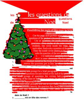 les questions de Noel FRENCH