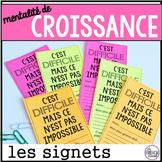 les signets mentalité de croissance - French growth mindset bookmarks