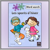 French winter sports/les sports d'hiver - Word search