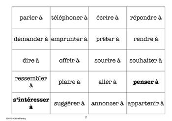 les verbes avec prépositions à  Pronom complément indirect / pronom tonique