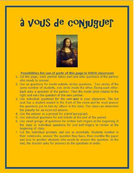 les verbes réguliers à vous de conjujguer FRENCH
