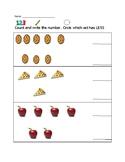 less than worksheet. kindergarten go math ch 2