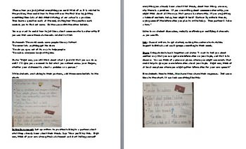 lesson 7/ Changing the World Gr3 Unit of Study