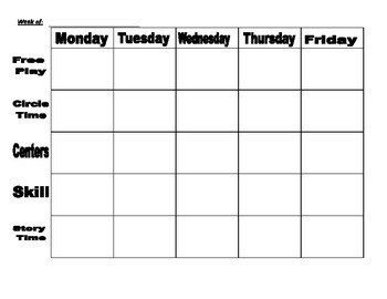 lesson, daily, monthly, and center planning organizers