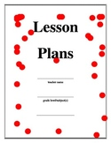 lesson plan binder cover with red polka dots