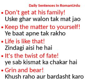 lesson seventy English Basic Common Sentences In Urdu By Tariq Aziz