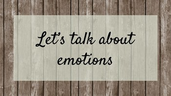 let's talk about emotions - emotion knowledge and identification