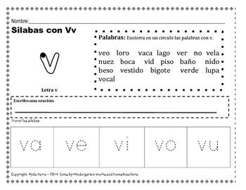 letra v