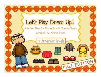 let's Play Dress-up: Fall Edition- Adapted Book for Students with Autism