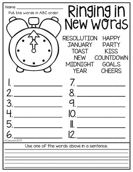 Ring in the New Year {Craftivity & Printables}