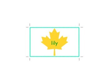letter L word flashcards