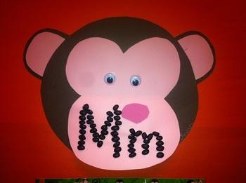 letter Mm foldable