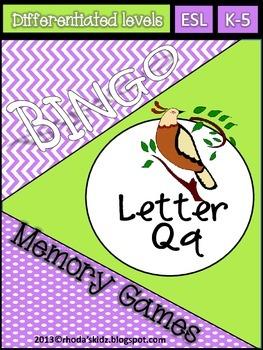 letter Q Bingo