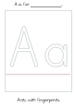 letter activity pages