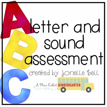 letter and sound assessment freebie