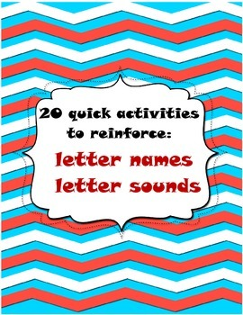 letter names and letter sounds activities