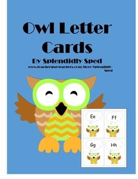 lettercards-owls-prek-5-word wall headers