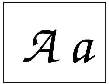 letters for calendar