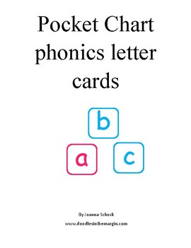 letters for pocket charts