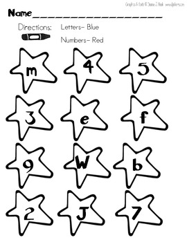 letters or numbers worksheet by arayababy 39 s kinders tpt. Black Bedroom Furniture Sets. Home Design Ideas