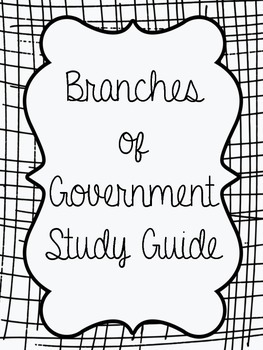 branches of the United States government study guide