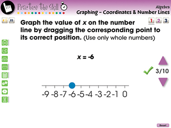 lgebra: Graphing - Coordinates & Number Lines - Practice the Skill 1-MAC Gr. 3-5