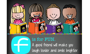library CHALK {melonheadz} - Class Decor: LARGE BANNER, FRIEND - BRIGHTS