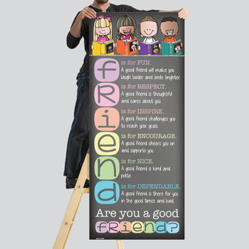 library CHALK {melonheadz}- Classroom Decor: LARGE BANNER, Are You a Good FRIEND