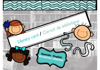 library labels, library card & more - English-Spanish