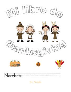 libro de dia de gracias Thanskgivin in spanish