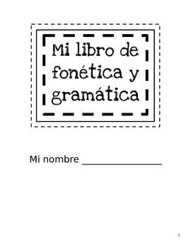Libro de fonética y gramática (Pared de palabras personal)