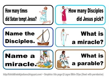 Life of Jesus Task Cards Freebie