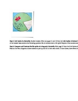 lifecycle lesson plans - 2nd grade