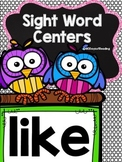{like} Sight Word Printable Center {like}
