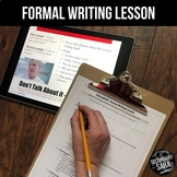 """Formal Writing Word Choices Lesson for ELA: Write """"Like a Boss"""""""