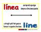 line/linea geom 1-way blue/rojo