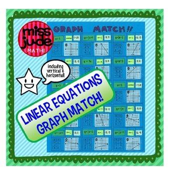 linear equations graph match cut & paste activity
