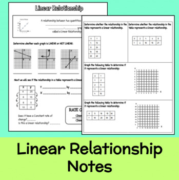 linear relationship notes