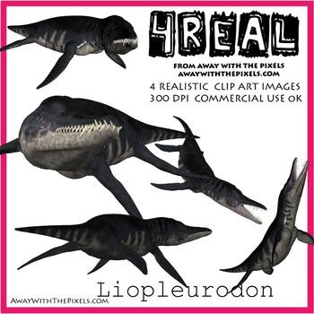 Lipleurodon - 5 Realistic Dinosaur Clip Art Images
