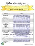 liste de vidéos pédagogiques français