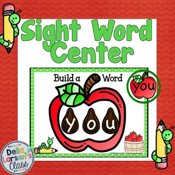 Literacy Center Word Work for Sight Words {Apples}