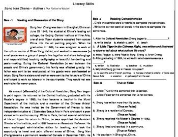 literacy Skills -Author of Mulan
