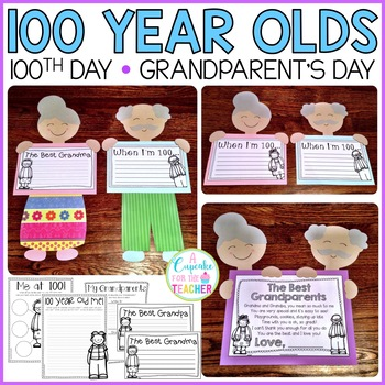 Little 100 Year Olds {a Craftivity for Grandparent's Day or 100th Day}