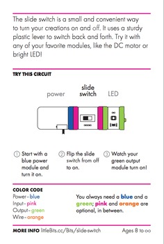 littleBits Individual Modules Cards