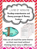 living nonliving reading comprehension and fluency leveled