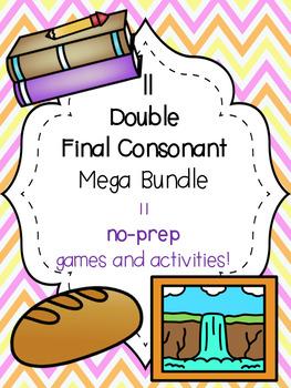 ll Double Final Consonant Mega Bundle! [11 no-prep games and activities]