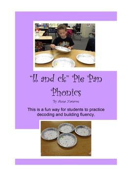 ll and ck Pie Pan Phonics