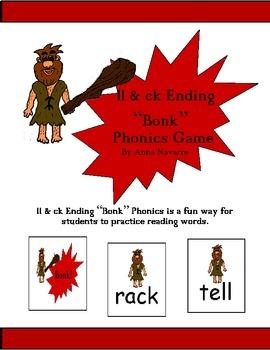 "ll & ck Ending ""Bonk"" Phonics Game"