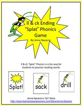 "ll & ck Ending ""Splat"" Phonics Game"